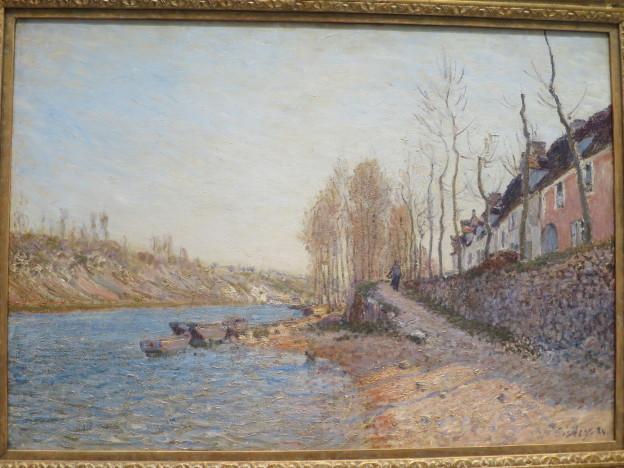 Alfred Sisley: La Croix Blanche at Saint Mammes