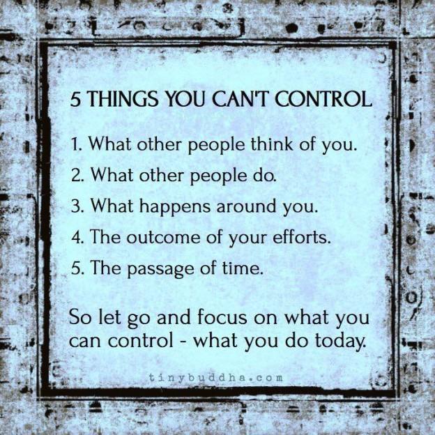Wat je niet kunt controleren